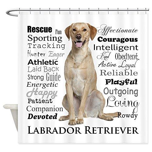 51CF0wamjqL CafePress Labrador Traits Shower Curtain Decorative Fabric Reviews