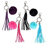5''TASSEL AND 2'' POM POM KEYCHAIN, Case of 144