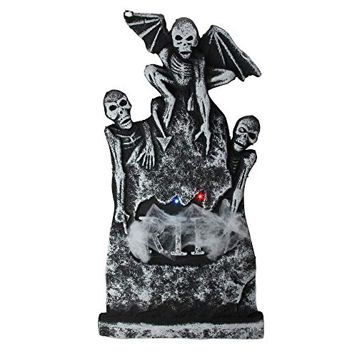 Northlight Lighted Gothic Tombstone with Skeletons Indoor/Outdoor Halloween Decoration 29.5