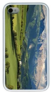 covers sparkle landscape italy TPU White Case for iphone 4/4S
