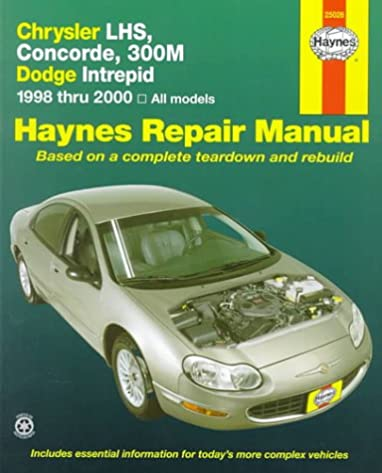 chrysler lhs concorde 300m dodge intrepid 1998 thru 2004 haynes rh amazon com 1998 dodge stratus service manual pdf 1998 dodge neon service manual