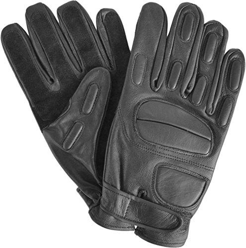 Security Lederhandschuhe mit Protektoren und schnitthemmender Kevlar Grifffläche