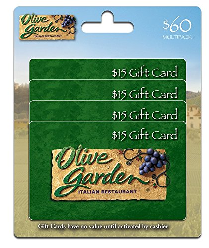 Olive Garden Gift Cards  Multipack Of 4    15