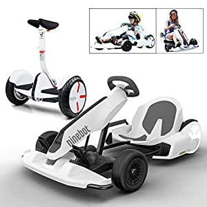 Ninebot GoKart Kit and Segway miniPRO Smart Self Balancing Personal Transporter, 12.4 Miles Range, 15 MPH Top Speed, Mobile App Control, LED Lights, The Coolest GoKart Ever for Kids and Adults (White)