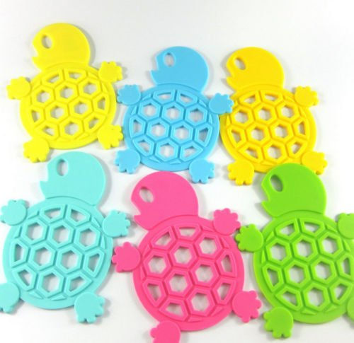 2 pcs Turtle Cup Pads Mat Resistant Drink Coaster Kitchen Tableware Table Decor