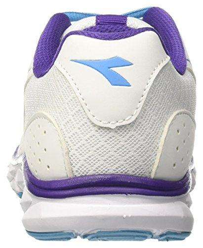 Diadora Chaussures Fluo 7 W De Femmes Course Cass Blanc bianco Blu Hawk Pour xSArnxF