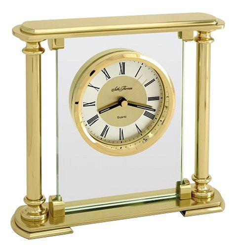 (Seth Thomas Mirage Gold-Plated Brass Table Clock )