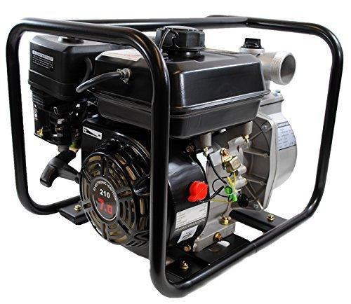 (Shop4Omni 4-Stroke 132 GPM 2 Inch 7 HP Gas Powered Portable Water Pump)
