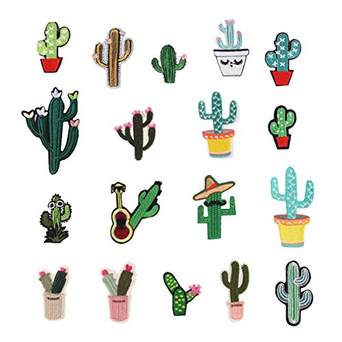 Kennedy Embroidery Cactus Patches Iron On Appliques Decal Sticker for Denim Jeans Jacket Handbag Shoe from Kennedy Manufacturing