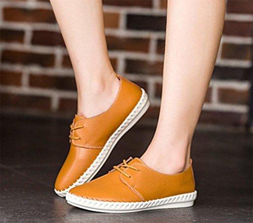 Frau im Frühjahr und Herbst College Wind Schuhe, flache Schuhe Dameneinzel runde Schuhe Freizeitschuhe Aufzug Schuhe Spitze , US7.5 / EU38 / UK5.5 / CN38