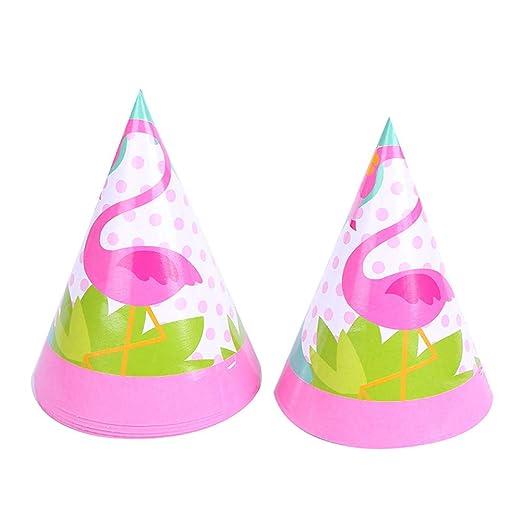 Doitsa 6pcs Flamingo Fiesta Gorro cumpleaños Gorra de Papel ...