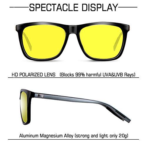 WP2003 UV400 de Retro Gafas wearPro y Wayfarer Sol Protección Clásico Mujer Amarillo Polarizadas para Hombre ORqIPaw