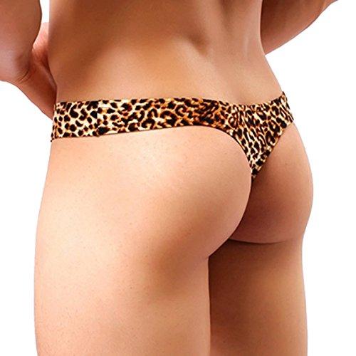 Sexy Men's Underwear Thong G-string Leopard Print Bulge - Leopard Print Thong Men