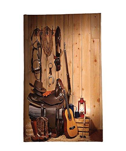 Texas Boot Camp (Interestlee Fleece Throw Blanket Western Decor American Texas Style Country Music Guitar Cowboy Boots USA Folk Culture Sand Brown Chocolate)