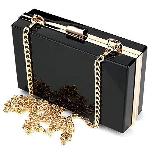 Box Ladies Ideal Shoulder Transparent Luxury Women Crossbody Fashionable Evening Bags Gift RISUP Clutches Black Handbag for x7I6w0d