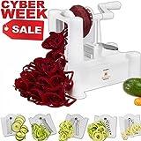 Brieftons 5-Blade Spiralizer: Vegetable Spiral Slicer, Best Veggie Pasta Spaghetti Maker for Low Carb/Paleo/Gluten-Free Meals thumbnail