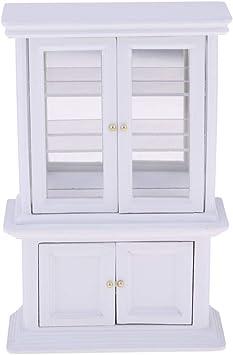 pas cher couleurs et frappant vente chaude en ligne Baoblaze 1/12 Miniature Bibliothèque Meuble pour Maison de ...