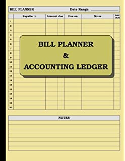 accounting ledger 120 pages size 8 5 x 11 inches double sided