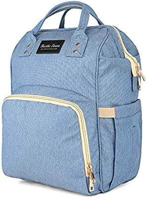 Multi-Pocket Baby Girl Diaper Tote Bag Nappy Bag with Changing Pad Sundry Bag