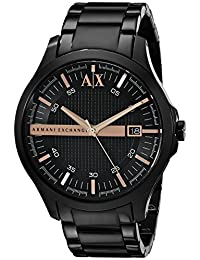 Armani Classic AX2150 Men's Wrist Watches, Black Dial
