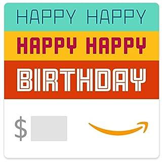 Amazon eGift Card - Happy Happy Birthday (B07X1HK6GC)   Amazon price tracker / tracking, Amazon price history charts, Amazon price watches, Amazon price drop alerts