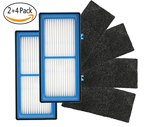 DeeClean 2-Pack Replacement Filter For Holmes Total Air Filter, Filter For Total Air Filter With 4 Carbon Booster Filter/Type Filter-HAPF30AT For HAP242-NUC by DeeClean