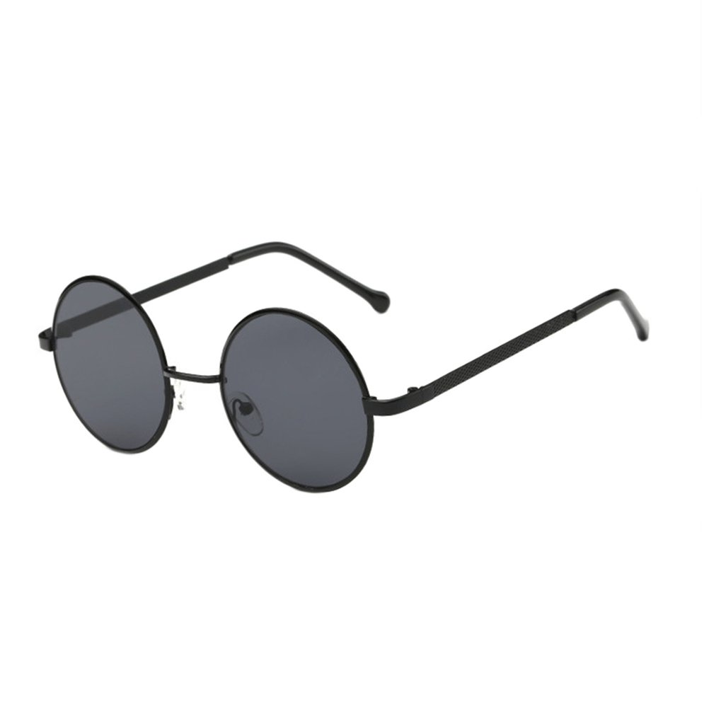 LUOEM Fashion Sunglasses Circle Eyewears for Men Women (Dark Grey Lens) 0Q195538SZJB65007