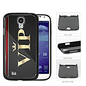 VIP Card Gray Gold Exclusive Membership Hard Plastic Snap On Cell Phone Case Samsung Galaxy S4 SIV I9500