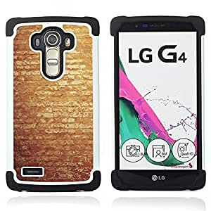 """LG G4 H815 H810 H811 LS991 LS986 US991 H815 U812 - 3 en 1 impreso colorido de Altas Prestaciones PC Funda chaqueta Negro cubierta gel silicona suave (Vintage pared de ladrillo"""")"""