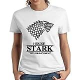 house stark's sigil game of trhones for Medium white Women T-shirt