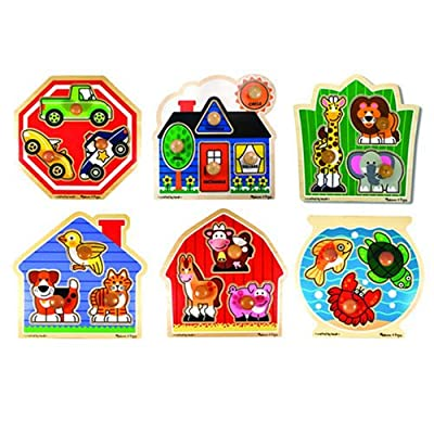 Jumbo Knob Puzzles (Set of 6) from Kaplan Early Learning Company