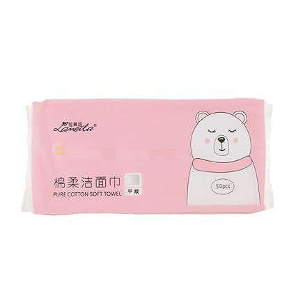 Sharplace 50 hojas de algodón almohadillas maquillaje cosmético facial removedor limpieza toalla toallitas