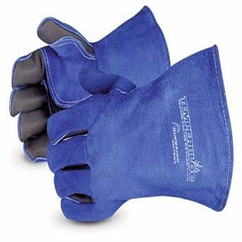 Superior 505tbws temperbloc Premium side-split piel soldadura guante con palmas temperbloc y Kevlar cosido
