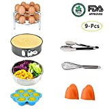 Instant Pot Accessories Set, LinkingHome 9 Pcs Pressure Cooker Instant Pot for 5 6 8 Qt, Steamer Basket/7 inch Springform Pan Non-stick/Egg Beater/Stackable Egg Steamer Rack/Silicone Egg Bites Molds/K