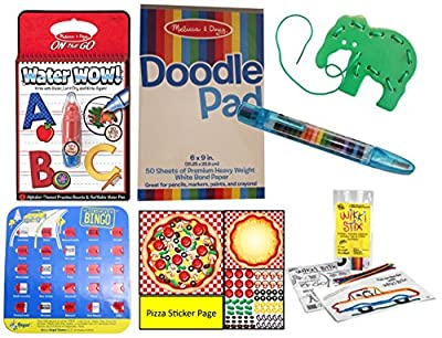 Travel Toy Activity Bundle for Kids - Busy Bag Games for Car and Airplane travel