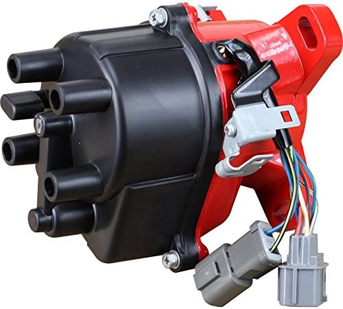 Dragon Fire High Performance Race Series Complete Electronic Ignition Distributor Compatible Replacement For 1992-1995 Honda Civic 1.5L SOHC VTEC TD-42U 30100-P08-006 31-17404 OBD1 Oem Fit DTD42-DF