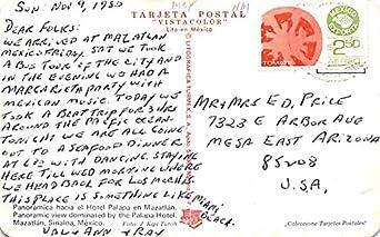 Hotel Palapa en Mazatlan Mexico Postcard Tarjeta Postal at ...