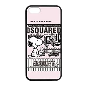 Custom Snoopy Hard Back Cover Case for iPhone 5,5S TPU (Laser Technology)
