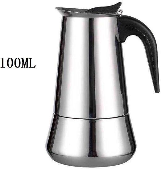CHANGLI Cafeteras de émbolo Cafetera de café Espresso de Acero ...
