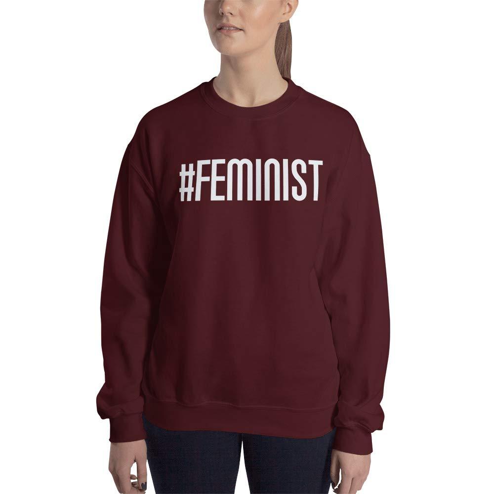 Sweatshirt Maroon STFND Feminist