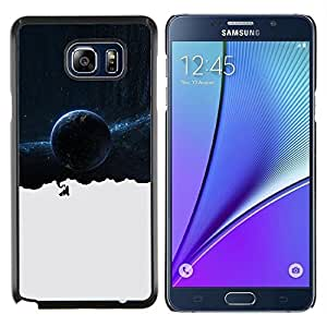 Jordan Colourful Shop - Space Galaxy Thoughts For Samsung Note 5 N9200 N920 Personalizado negro cubierta de la caja de pl????stico