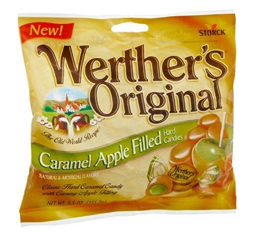 Werther's Original Caramel Apple Filled Hard Candies, 5.5 OZ (Pack of 12)