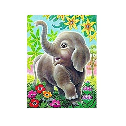 DIY 5D Diamond Painting Kit, Hoshell 5D Cute Animal Embroidery Paintings Rhinestone Pasted DIY Diamond Painting Cross Stitch Partcial Drill Kits (B3) -