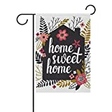 U LIFE Decorative Hello Welcome Sweet Home Floral Garden Yard Flag Banner for Outside House Flower Pot Double Side Print 40 x 28 & 12 x 18 Inch Review