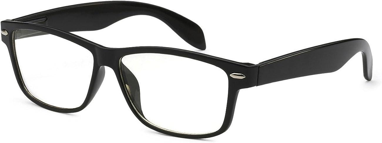 Fashion Retro Half Frame Clear Lens Glasses UV400 Nerd Geek Eyewear Black Brown
