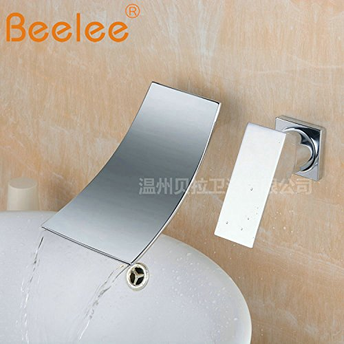 The Bend in the Water Gyps Faucet Basin Mixer Tap Waterfall Faucet Antique Bathroom Mixer Bar Mixer Shower Set Tap antique bathroom faucet The copper falls water out into the two holes in the wall 2-piece single handle bas
