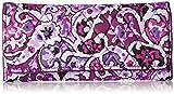 Vera Bradley Women's Rfid Trifold Wallet, Lilac Paisley, One Size