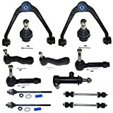13PC Complete Control Arm Front Suspension Kit for w/ Upper & Lower Ball Joints for Chevy 2002-2006 Avalanche 1500 & 2000-2006 Suburban 1500/Tahoe & 99-06 Silverado 1500 & 2007 Silverado 1500 Classic