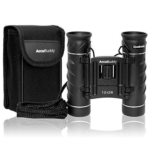 AccuBuddy Fernglas – Leichtes Mini Binocular Mit 12-Fach Vergrößerung und 26mm Objektiv Auch für Kinder Geeignet – Für…