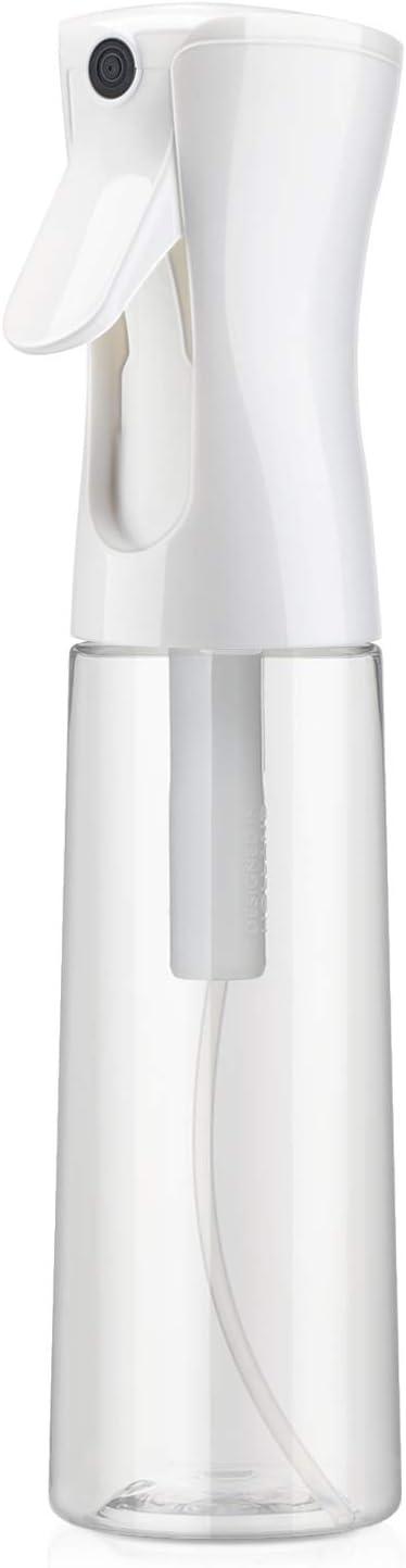 Image ofBotella de spray para el cabello transparente, Segbeauty 12.2oz / 360ml Botella de agua de plástico recargable vacía Spray continuo Rociador de cabello rizado Rociador de peluquería